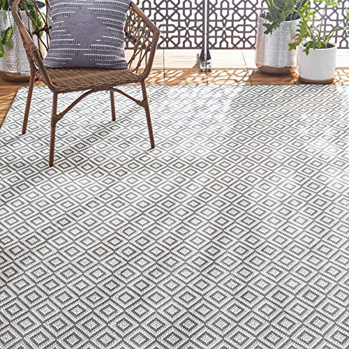 Home Dynamix Tripoli Lydia Modern Indoor/Outdoor Area Rug, Gray/Cream, 3'7'x5'2' Rectangle