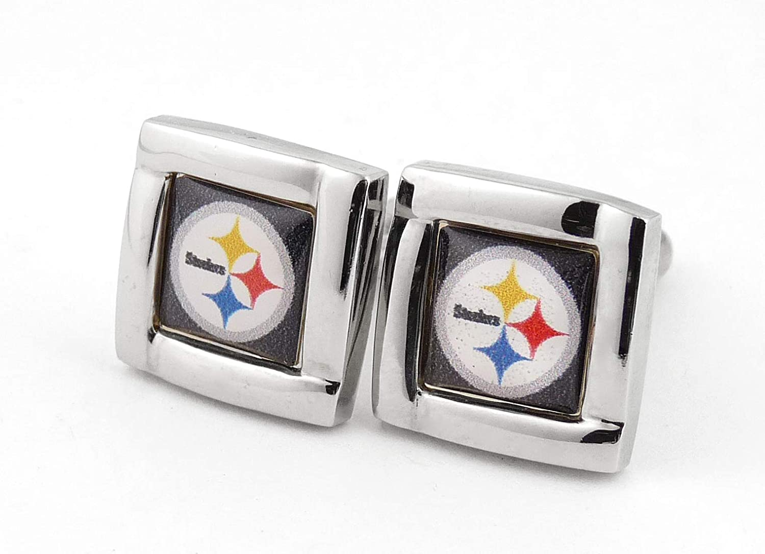 Aminco NFL Logo Trust Square Cufflinks Gift Time sale Box Set with