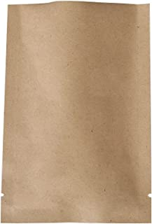 QQ Studio 100 PCS Kraft Mylar Inside Foil Open Top Sealable Bags (10x15cm(3.9x5.9