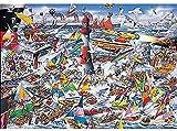 Lulcly Puzzle 1000 Piezas Adultos Crucero Bajo El Faro Madera Regalos Educativos De Bricolaje Para Niños