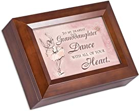 Cottage Garden to My Dearest Granddaughter Dance Wood Finish Jewelry Box Plays You are My Sunshine