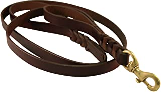 Angel Braided Brown Leather 6' x 1