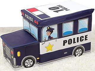 XIMIXI Kids Toy Organizer Cartoon Toy Chest Box Nursery Storage Bin with Lid  Navy blue-1