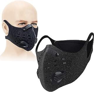 洗える トレーニング用 マスク 低酸素 持久力 肺活量 フィルター付 PM2.5 有酸素運動