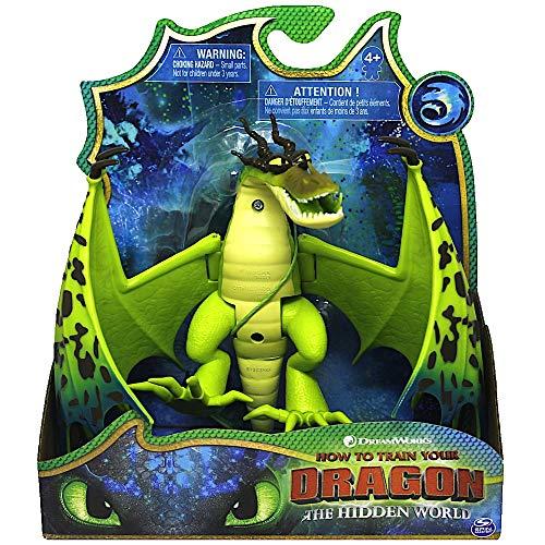 Dragons Drachenzähmen leicht gemacht 3 - Monstrous Nightmare Hackenzahn grün Drache - bewegliche Drachenfigur aus dem Film geheime Welt