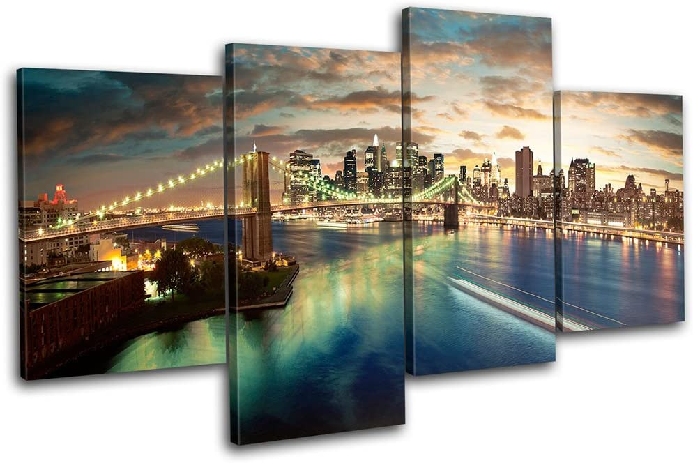 Bold Bloc 新登場 Design - NYC 日本製 Brooklyn City Canva Multi 160x90cm Bridge