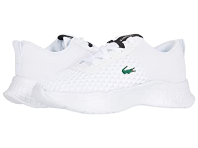 Lacoste Kids Court-Drive 0120 1 SUC (Little Kid) (White/Black) Kid