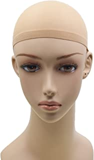 Stretchable Elastic Nylon Best Wig Cap For K'ryssma Lace Front Wigs/K'ryssma Wigs Nude Beige Color (2 Pack, 4 Pcs)