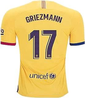 2019-2020 Barcelona #17 Griezmann T Shirt Home Mens Soccer Jersey Red/Blue