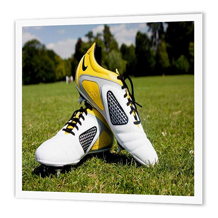 3dRose ht_50203_1 Football Boots-Iron on Heat Transfer Paper for White Material, 8 by 8-Inch