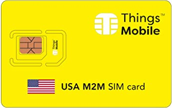 US M2M SIM Card - Things Mobile - with Global Coverage and Multi-Operator GSM/2G/3G/4G LTE Network, No Fixed Costs, No Expiration Date and Competitive Rates, with $10 Credit Included