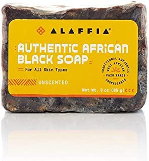 Alaffia - Authentic African Black Soap Bar, Handcrafted to Cleanse and Moisturize Skin with Unrefined Shea Butter and Palm...