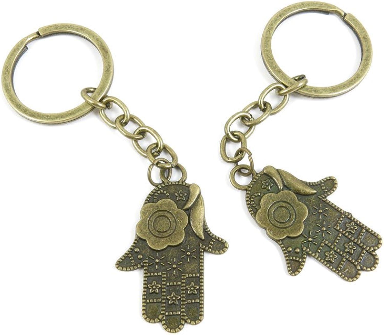 80 PCS Keyring Car Door Key Ring Tag Chain Keychain Wholesale Suppliers Charms Handmade Y8LF6 Palm Buddha