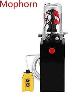 Mophorn Hydraulic Pump 12V Hydraulic Pump Single Acting Hydraulic Pump for Dump Trailer 10 Quart Hydraulic Pump