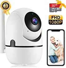 Home Security Camera 1080P 2.4G WiFi Camera, Two-Way Audio, Pet,Elder, Baby Monitor with IR LED Night Vision, Motion Detection, Cloud Storage - 16GB TF Card