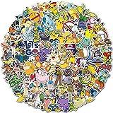 SZENEST Pokemon Aufkleber 100 Stück Süße Cartoon Pikachu Aufkleber für Kinder Teens wasserdichte Vinyl Anime Auto Aufkleber für Skateboards Telefon Laptop Motorrad Fahrradkoffer