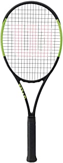 Wilson Blade 98 16x19 CV (Countervail) Green/Black Tennis Racquet Strung with Custom Racket String Color