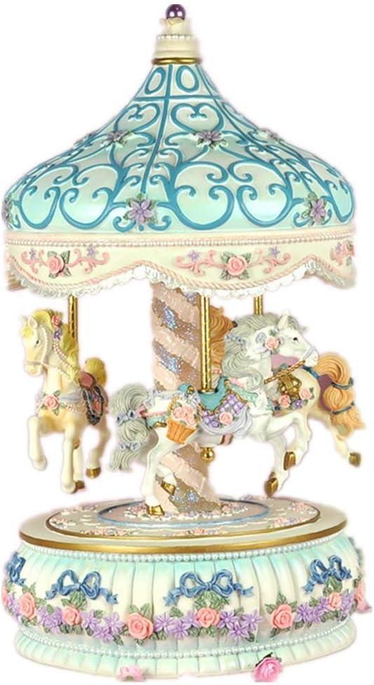 ZXY-NAN Carousel Import Sale Music Box Musical 3-Horse Horse Bi