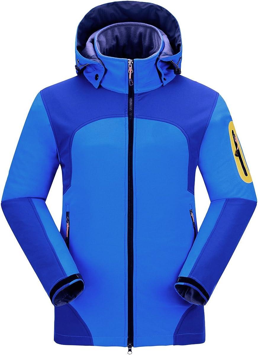 CIKRILAN Men's Soft Shell Windproof Outdoor Fleece Lined Jackets Camping Hiking