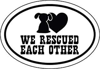Rescue Mom Bumper Sticker WickedGoodz Pink Paw Rescue Mom Vinyl Decal Perfect Dog Owner Gift