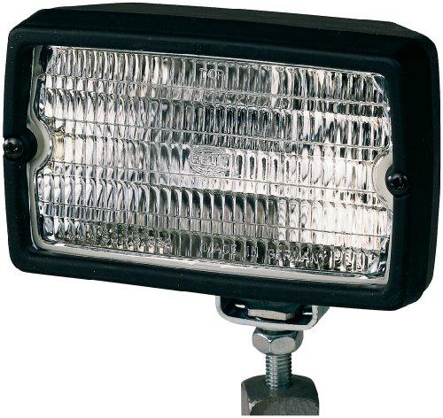 Preisvergleich Produktbild HELLA Master 5060 H3,  Halogen Arbeitsscheinwerfer,  stehender / hängender Anbau,  weitreichende Ausleuchtung,  schwarzes Kunstoffgehäuse,  12V / 24V 1GA 005 060-001