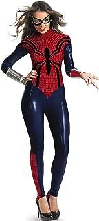Girl Womens Adult Superhero Style Deluxe Spider Girl Catsuit Costume Cosplay Bodysuit S-XXL
