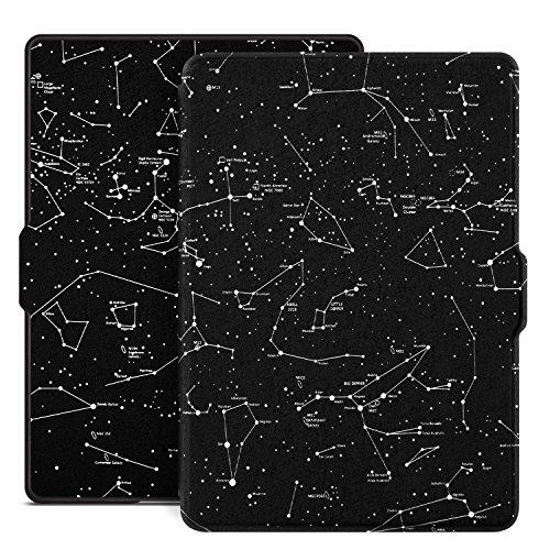 Capa para Kindle Básico da 8a geração, Rígida, Fecho Magnético, Hibernação, Constelação