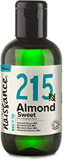 Naissance Mandelöl süß BIO Nr. 215 100ml – 100% rein & natürlich, BIO zertifiziert, kaltgepresst, vegan, hexanfrei, gentechnikfrei Ideal für Massagen, Haut- und Haarpflege.