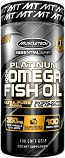 Omega 3 Fish Oil Capsules | MuscleTech 100% Omega Fish Oil | Fish Oil Supplements with No Aftertaste | Omega 3 Fatty Acid ...