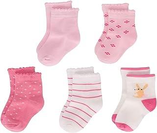 5 Pares Calcetines de algodón para bebé niñas niños Conjunto de calcetines suaves con estampado animal de dibujos animados para unisexo bebé