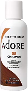 Adore Semi-Permanent Haircolor #058 Cinnamon 4 Ounce (118ml) (2 Pack)