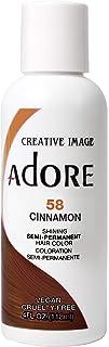 Adore Semi-Permanent Haircolor #058 Cinnamon 4 Ounce (118ml) (2 Pack)