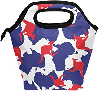 ALAZA Insulated Lunch Tote Bag Australia Kangaroo Cooler Lunch Box Food Container for Women Boy Girl