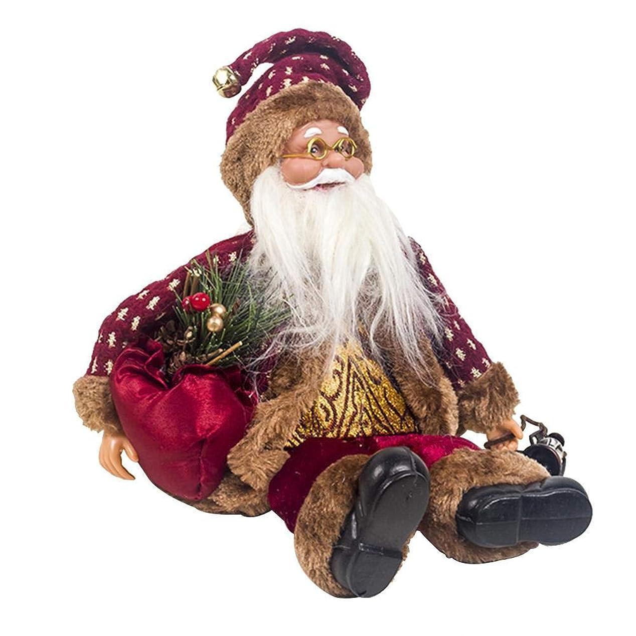 職業リズミカルなアミューズLUERME クリスマス サンタクロース 人形 飾り 置物 置物 卓上 玄関 繰り返し使用 クリスマスプレゼント 雰囲気満載