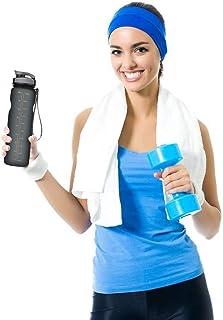 Beauenty Sports Water Bottle, 35oz/1L Drinking Bottle - BPA Free - Flip Top Leak Proof - One Click Open for Outdoor & Gym ...