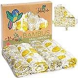 Superweiche Bambus Mullwindeln Spucktücher Baby Mulltücher von Tabalino 80x80cm 4er-Pack Set mit Gratis Schmusetuch doppelt gewebt Junge & Mädchen Stoffwindeln Moltontücher Baumwolle (Floral Love)