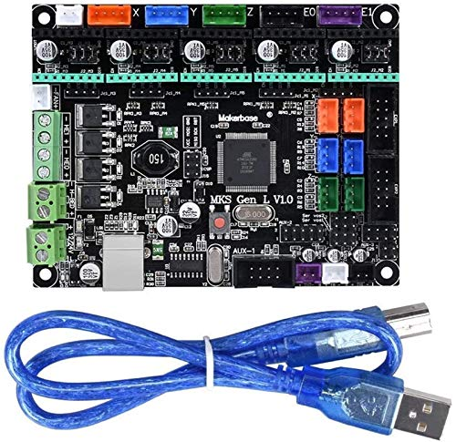 Auoeer MKS Gen L V1.0 Controller Compatible 3D Printer Board Improved Version with LCD2004/LCD12864 Support A4988/8825/TMC2208/TMC2100 Dri Driver board