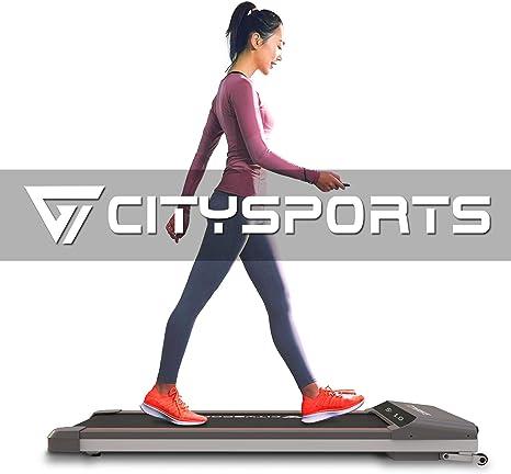 CITYSPORTS Folding Motorised Treadmill, 500W Motor, Adjustable Speed, LCD Screen, Folding walking treadmill for Home and Office
