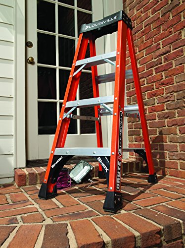Louisville Ladder 10-Foot Fiberglass Step Ladder, 375-Pound Capacity, FS1410HD