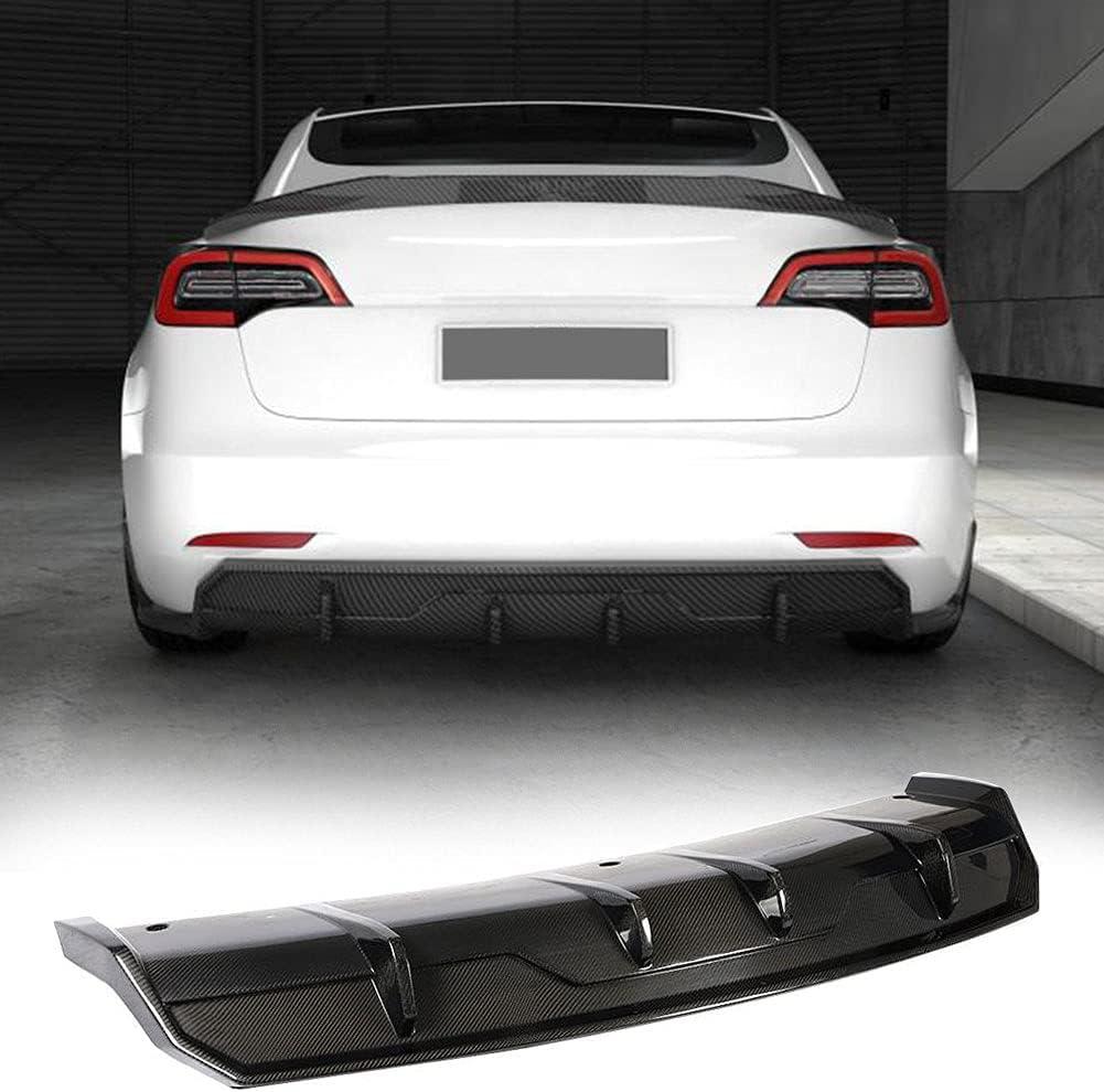 MCARCAR KIT Carbon Super beauty product restock Long-awaited quality top Fiber Rear Bumper Diffuser Fits Tesla Mod for
