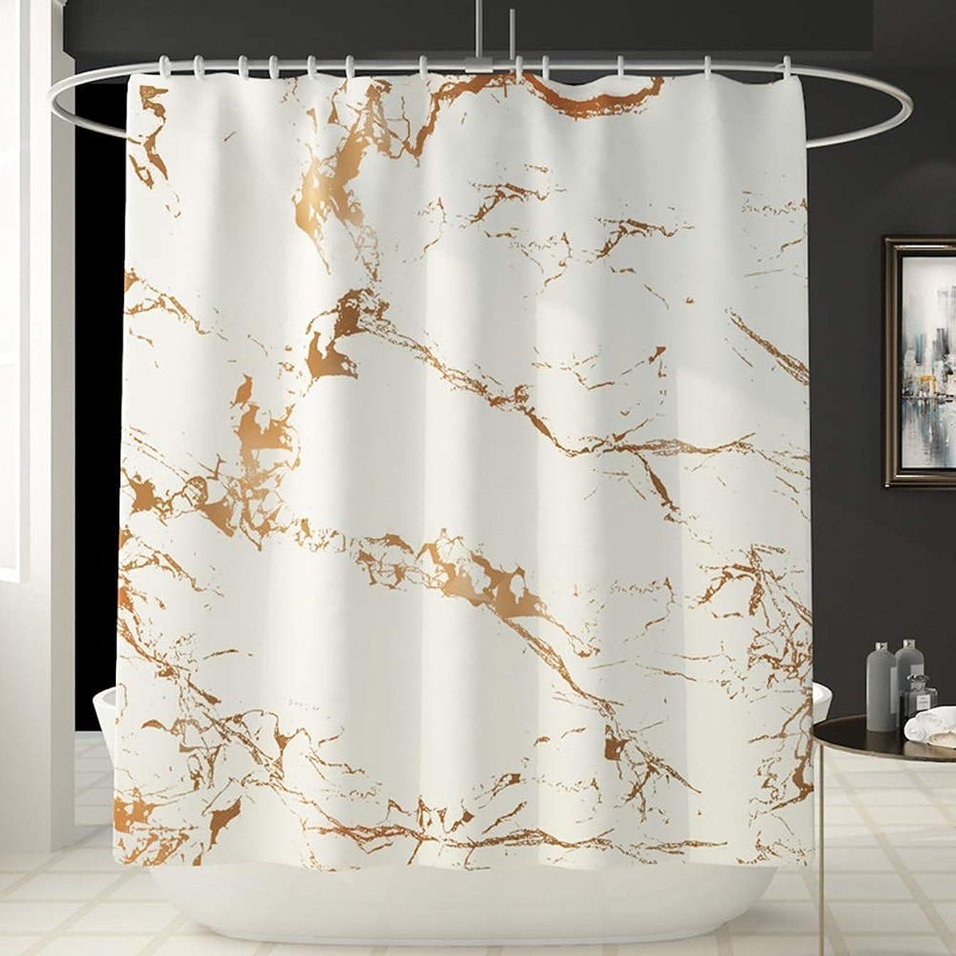 マルクス主義者名門バング大理石柄楽しいシャワーカーテン風呂アカウントバスルーム防水カーテン快適な浴槽シャワーカーテンは色褪せない多彩な180 cm * 180 cm洗濯機で洗える フェンコー