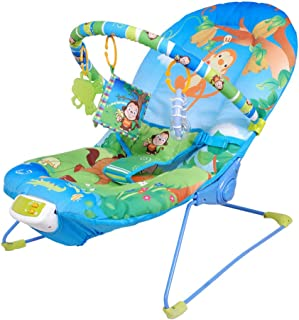 Baby Rocking Swing Bouncer Infant-To-Toddler Baby Bouncer Rocker,Musical Melodies Soothing Vibration Baby Chair and Rocker...