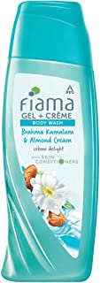 Fiama Gel Crème Body Wash Brahma Kamalam & Almond Cream, Shower Gel with Skin Conditioners for Moisturised Skin, 200 ml bo...