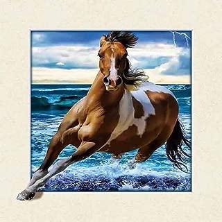 The 3D Art – Horse Art Unbelievable Life Like 3D Art Pictures, Interactive Art Work! Lenticular Posters, Cool Art Deco, Unique Wall Art Decor, Running Horse, Horse