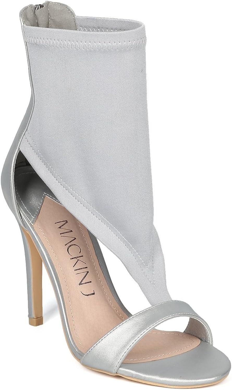 Alrisco HG84 Damen-Sandalen mit offenen Zehenpartien, Silber (Silber Mix Media), 38.5 EU
