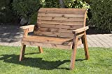 Charles Taylor Trading Hand Made Traditional 2 Seater <span class='highlight'>Chunky</span> Rustic <span class='highlight'>Wood</span>en <span class='highlight'>Garden</span> Bench <span class='highlight'>Furniture</span>