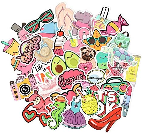Cute Vsco Stickers 50 Pack Vinyl Waterproof for Water Bottle Laptop Cute Stickers for Girls product image
