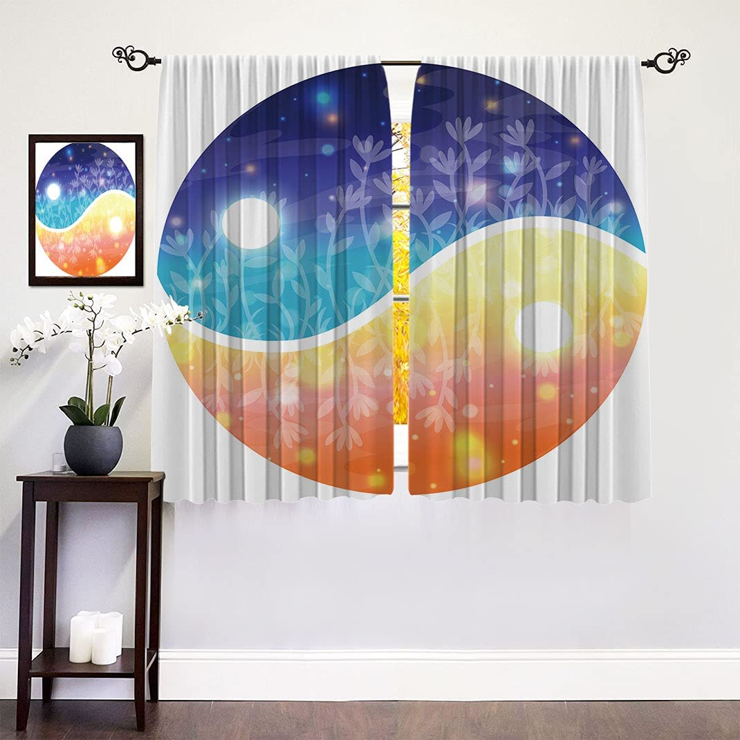 Apartment Decor Thermal Insulated Curtains Yin Bombing free shipping Bombing free shipping with Symbol Yang