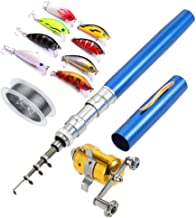 Telescopic Pocket Pen Fishing Rod Pole,100 Meters Nylon...