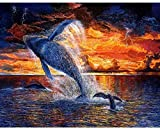 Pintura por números para niños y principiantes kit de pintura pintura acrílica de alta calidad pintura al óleo (sin marco) - mar